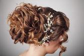 Beauty wedding hairstyle. Bride  — Stock Photo