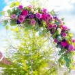 Arch for the wedding ceremony. Floristic composition in vintage — Stock Photo