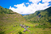 Rice terraces in the Philippines. The village is in a valley amo — Stock Photo