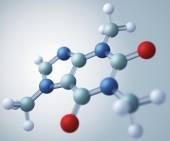 Caffeine molecular model — Stock Photo