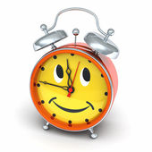 Alarm clock with smiley face — 图库照片