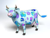Cartoon style patchy cow — Stock Photo