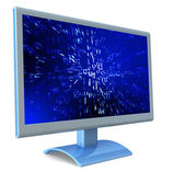 LCD monitor and abstract code  — Stock Photo
