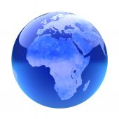 Glassy globe.Africa  — Foto Stock