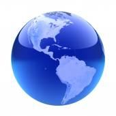 Glassy globe.America  — Stok fotoğraf