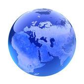 Glassy globe.Europe  — Stok fotoğraf