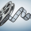 Film reel . Clipping path included  — Stock Photo #60084179