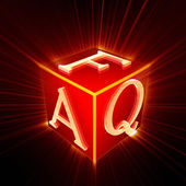 FAQ cube with shine  — Stock Photo