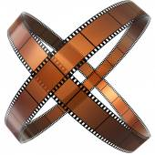 Two crossed rings of films — Stock Photo