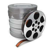 Film reel and canisters  — Stock Photo