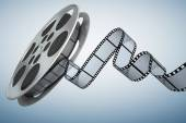 Film reel . Clipping path included  — Stockfoto