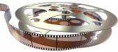 Film reel isolated — Stock Photo
