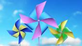 Colorful  windmill toys — Stock Photo