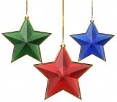 Glass xmas stars  — Stockfoto