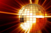 Shining disco mirrorball — Stock Photo