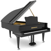 Black grand piano — Stock Photo