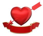 Heart pierced arrows — Stock Photo