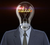 Idea man  — Стоковое фото
