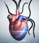 Mechanical heart concept — Stockfoto