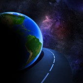 Speedy highway around Earth  — Stock Photo