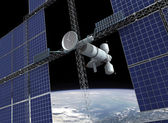 Orbiting space station  — Stock Photo