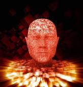 Uomo di pixel — Foto Stock