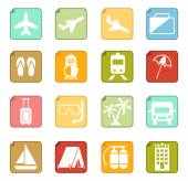 Set of travel icons — Stock Vector