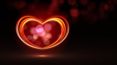 Vegas neon heart — Stock Video