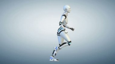 Running cyborg.Cycle — Stock Video