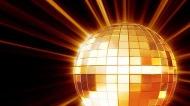 Shining disco mirrorball — Stockvideo
