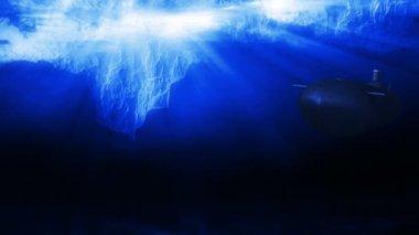 Submarine at  Arctic ice — Stock Video