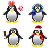 Penguin Vector Illustration Set — Stock Vector