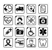Lékařské ikony nastavit — Stock vektor