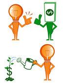 Pomysł i pieniądze — Wektor stockowy