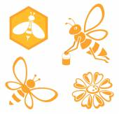 Bee and Honey set — Vetor de Stock