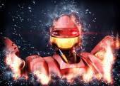 Fantastic robot — Stock Photo