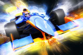 F1 bolide with light effect — Stock Photo