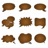 Speech chocolate bubble — Stock Vector