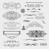 Set of calligraphic — Stock Vector