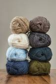 Colorful balls of wool — Stock Photo