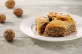 Baklava delicious pastry dessert — Stock Photo
