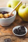 Ripe Apples and Prune Compote — Stock Photo