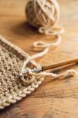 Crochet hook with thread — Stock Photo
