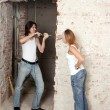 Young pair does repair — Stock Photo #52477077