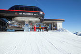 Top station of Kasereck — Stock Photo