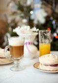 Cup of cappucino with meringue — Stock Photo
