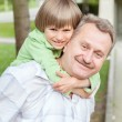 Grandad play with grandson — Stock Photo #52860143