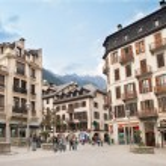 Square in city Chamonix — Stock Photo #52860231