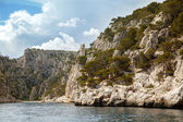 Cliffs in Massif des Calanques — Stock Photo