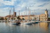 Moored yachts in La Ciotat — Stock Photo